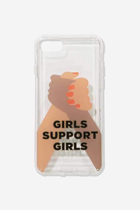 Printed Phone Cover 6,7,8 Plus, GIRLS SUPPORT GIRLS