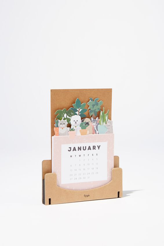 2020 Standing Novelty Calendar, CATS AND DOGS