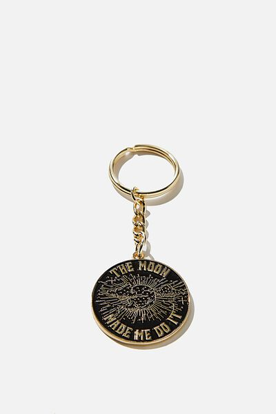 Enamel Keyring, THE MOON