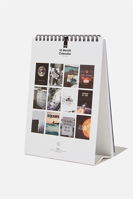 2021 Get A Date Flip Calendar, CHANGE THE WORLD