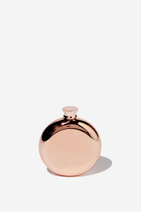 Novelty Flask, ROSE GOLD ROUND