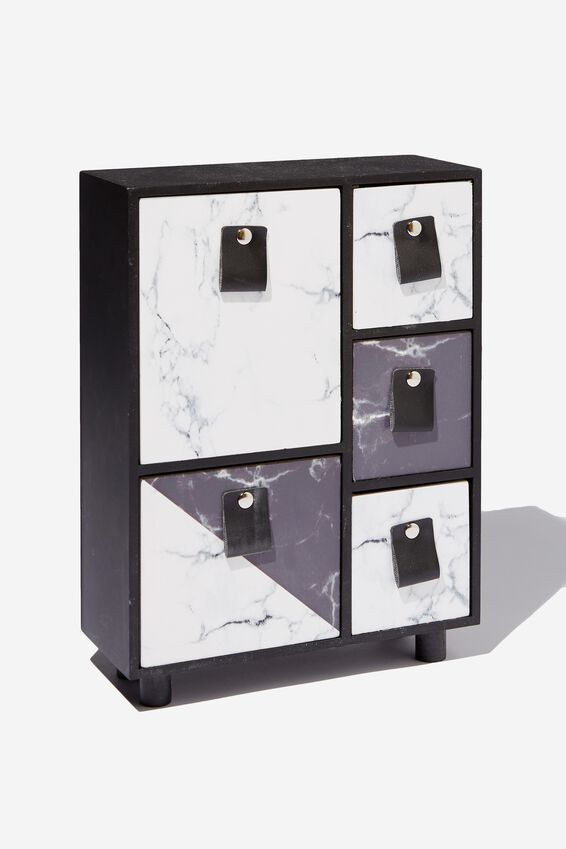 5 Drawer & Store, SPLICED MARBLE