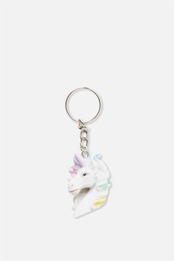 Novelty Keyring, MULTI COLOUR UNICORN