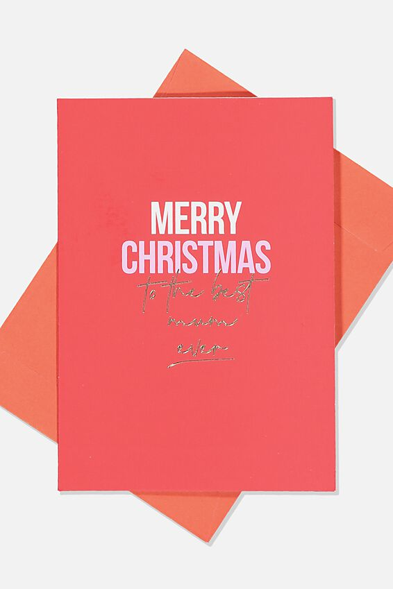 Christmas Card 2019, BEST MUM EVER