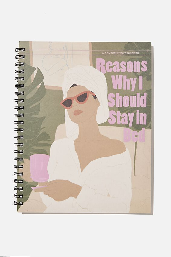 A4 Campus Notebook Recycled, REASONS I SHOULD STAY IN BED ILLO