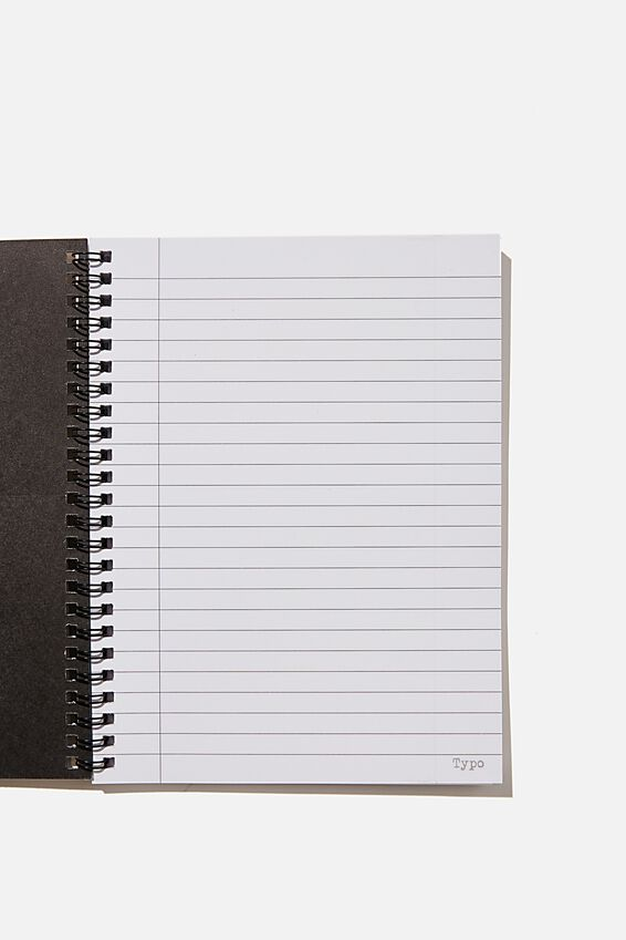 A5 Spinout Notebook Recycled, FIND THE POSITIVE ZEBRA PRINT