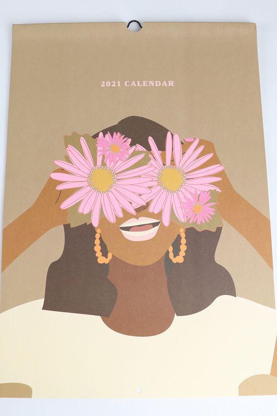 2021 A3 Art Series Calendar, PLANET B