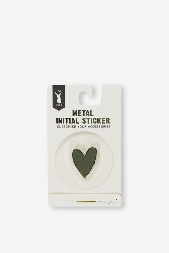 Metal Stickers, GOLD HEART