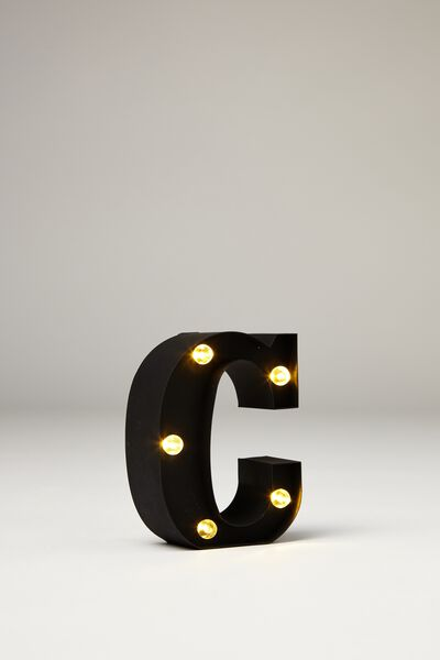 Mini Marquee Letter Lights 10cm, BLACK RUBBER C
