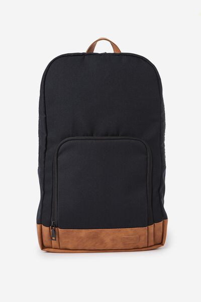 Voyager Laptop Backpack, BLACK & TAN