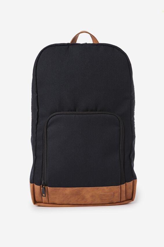Voyager Laptop Backpack, BLACK & TAN