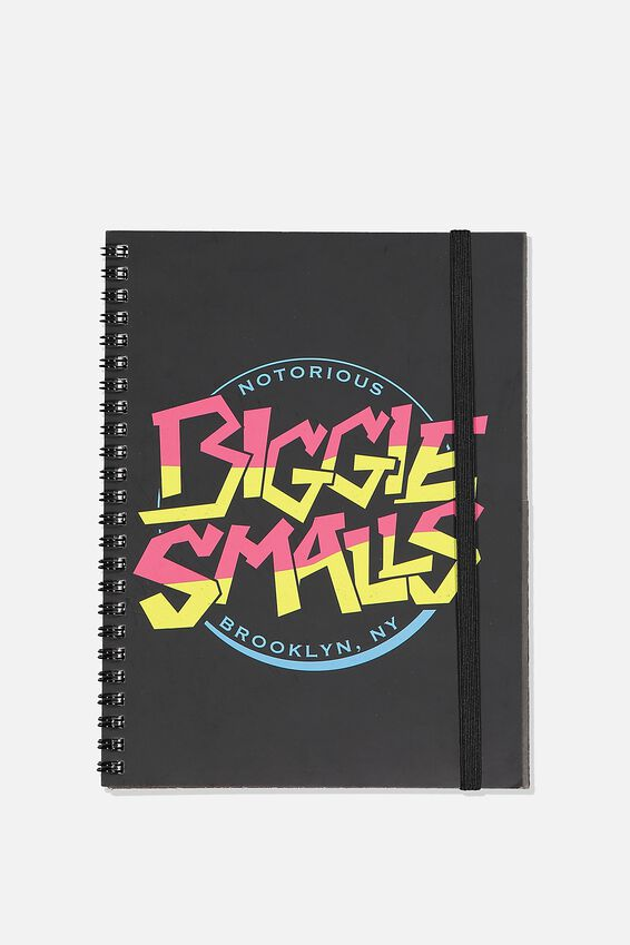 A5 Biggie Smalls Spinout Notebook Recycled, LCN MT BIGGIE SMALLS