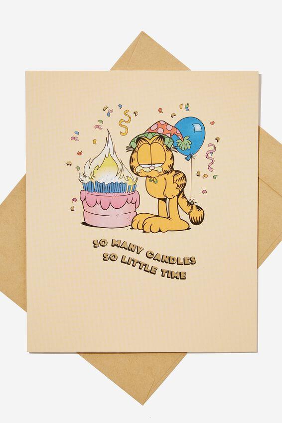 Garfield Funny Birthday Card, LCN GAR SO MANY CANDLES