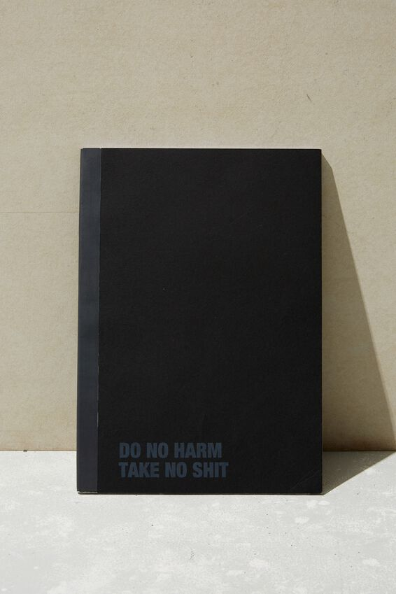 A4 Academy Notebook, DO NO HARM