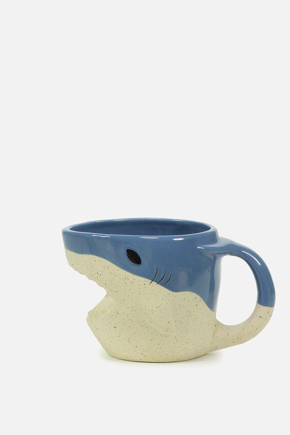 Novelty Shaped Mug, SHARK DIPPED