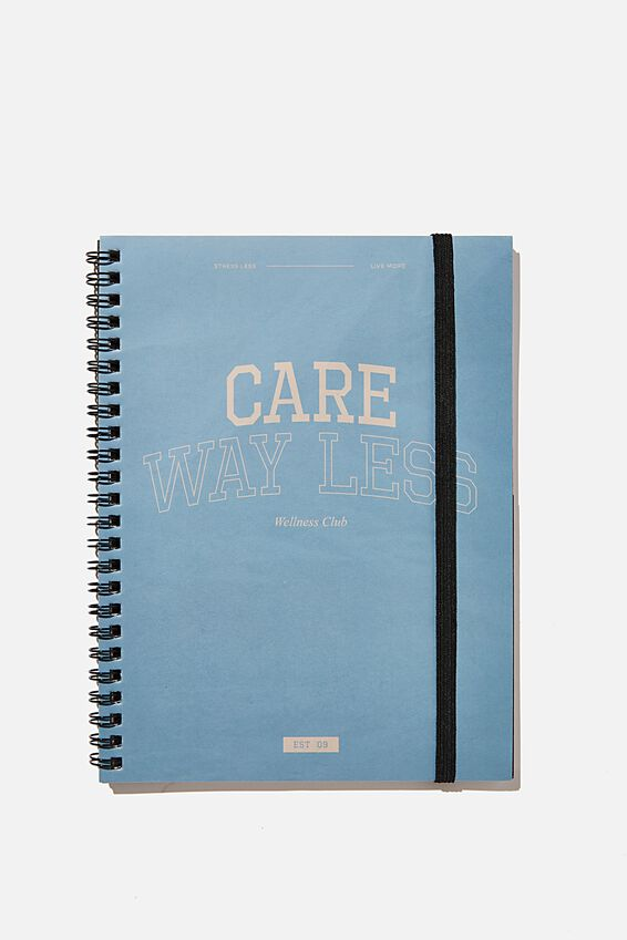 A5 Spinout Notebook Recycled, COLLEGIATE QUOTE