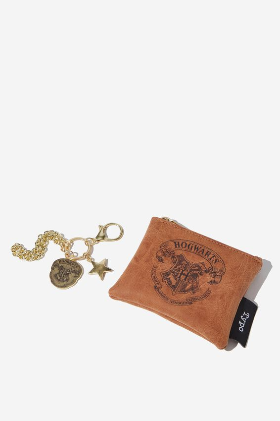 Harry Potter Coin Purse and Bag Charm Set, LCN WB HPO HOGWARTS LOGO