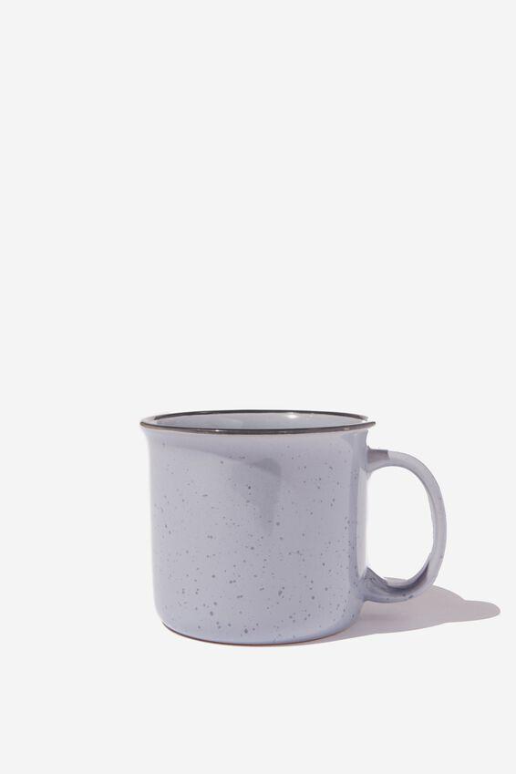 Large Ceramel Mug, BLUE LAZY AF!