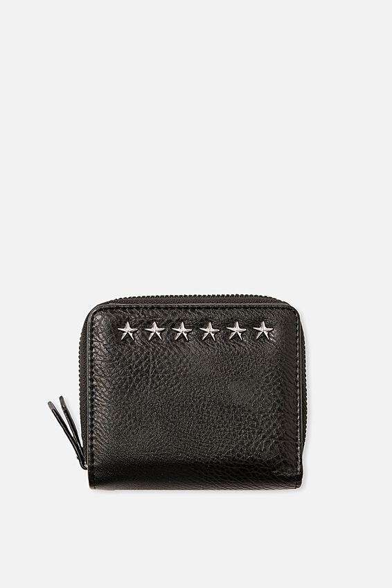 Mini Wallet, BLACK STUD
