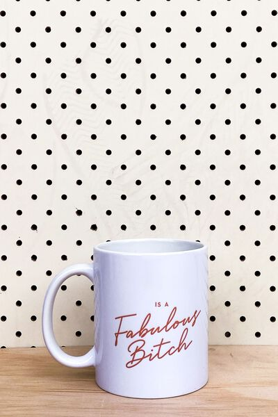 Personalised Mug, FABULOUS BITCH