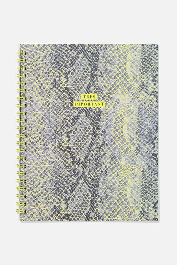 A4 Campus Notebook Dot Internal, SNAKESKIN TRES IMPORTANT