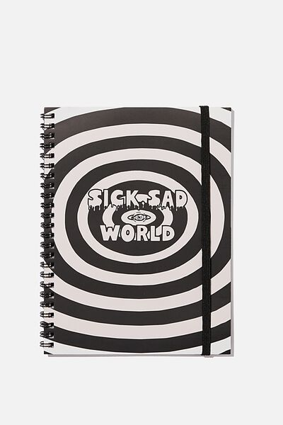 A5 Spinout Notebook Recycled, LCN MTV DA SICK SAD WORLD
