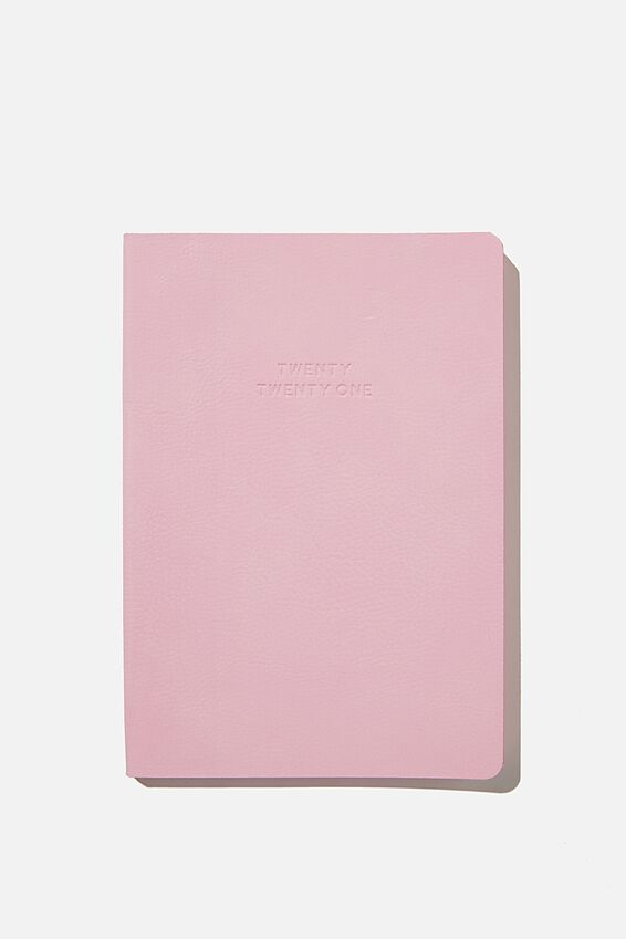2021 Soft A5 Weekly Buffalo Diary, PLASTIC PINK