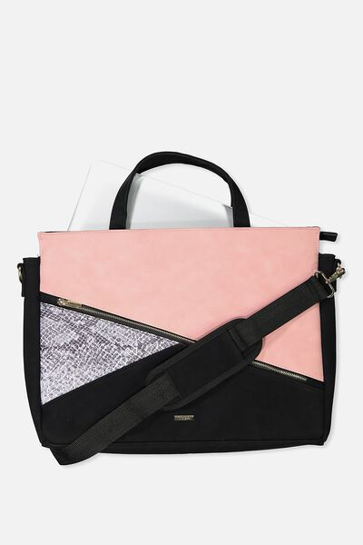 """Premium Laptop Bag 15"""", SNAKE AND SUEDE"""