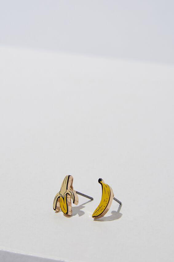 Novelty Earrings, BANANAS