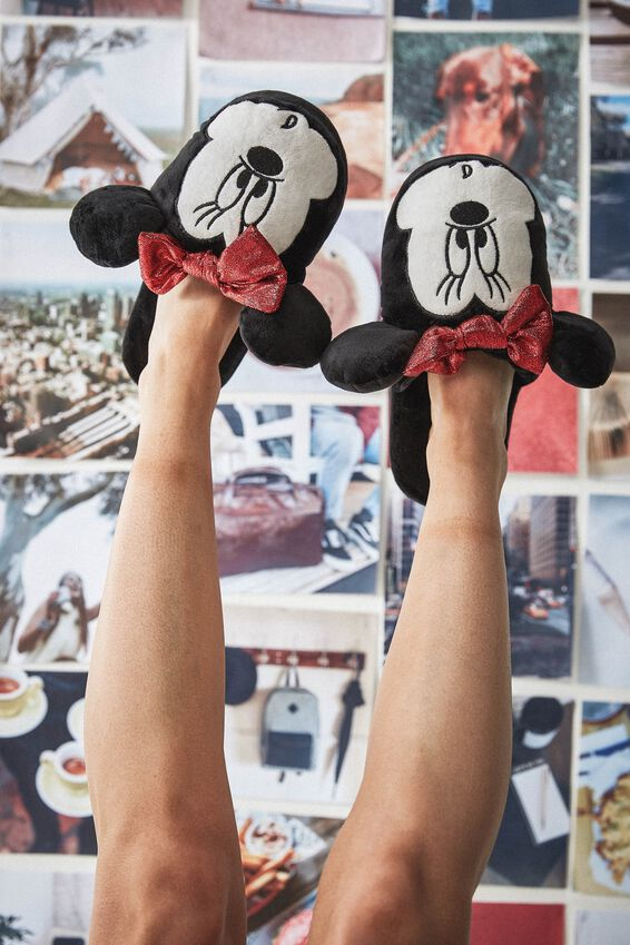 Minnie Novelty Slippers, LCN MINNIE FACE