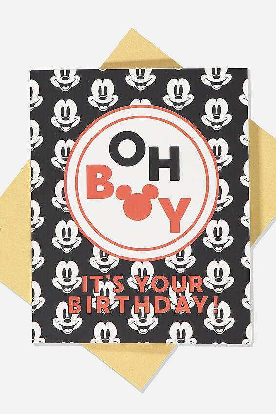 Disney Nice Birthday Card, LCN DIS MK OH BOY