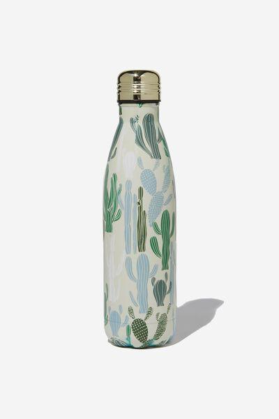 Metal Drink Bottle, CACTUS PRINT