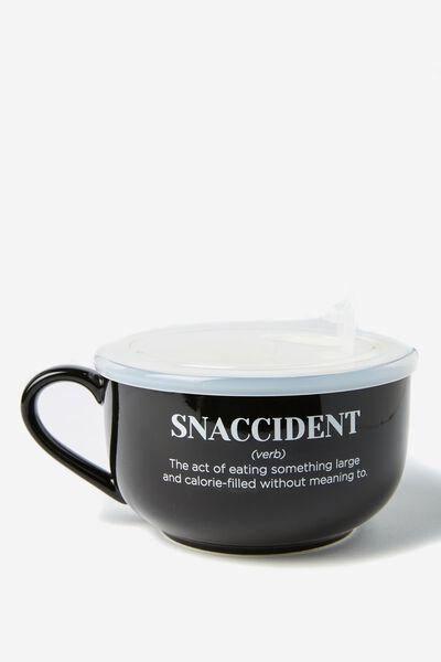 Big Mug Bowl, SNACCIDENT