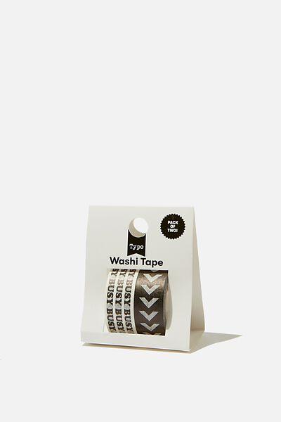 Washi Tape 2Pk, BLACK BUSY