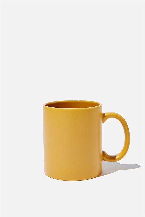 Anytime Mug, MATTE MUSTARD