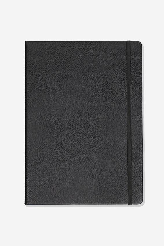 A4 Blank Buffalo Journal, BLACK