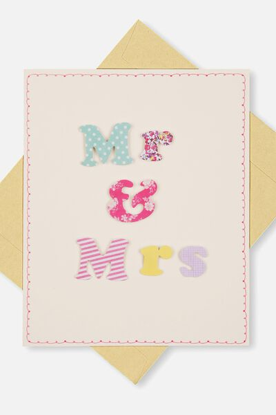 Embellishment Card, WE-MR & MRS