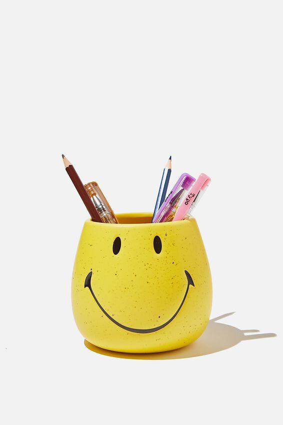 Smiley Pen Holder, LCN SMI SMILEY YELLOW