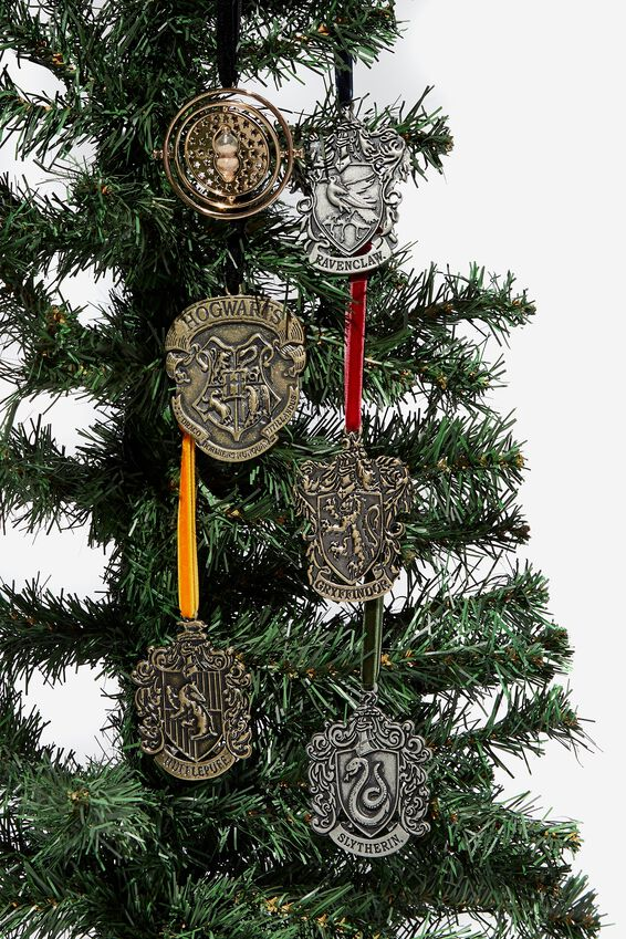 Licensed Christmas Ornament Pack, LCN WB HP CRESTS