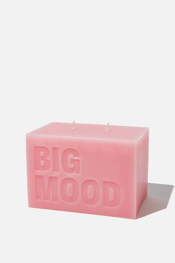 Large Block Candle, BIG MOOD PINK
