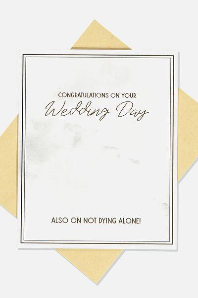 Wedding Card, NOT DYING ALONE WEDDING