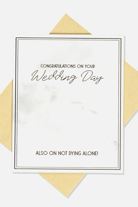 Wedding Card, NOT DYING ALONE WEDDING