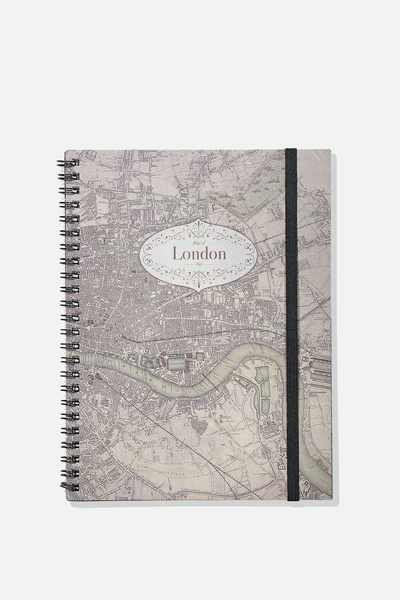 A5 Spinout Notebook - 120 Pages, LONDON MAP