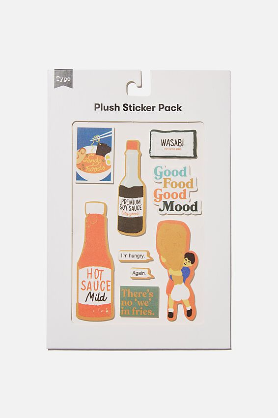 Plush Sticker Pack, HOT SAUCE