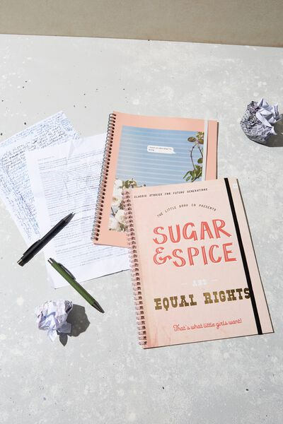 A4 Spinout Notebook Recycled, SUGAR & SPICE