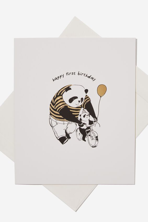 Age Card, 1ST BIRTHDAY PANDA