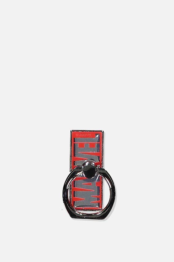 Marvel Metal Phone Ring, LCN MARVEL LOGO