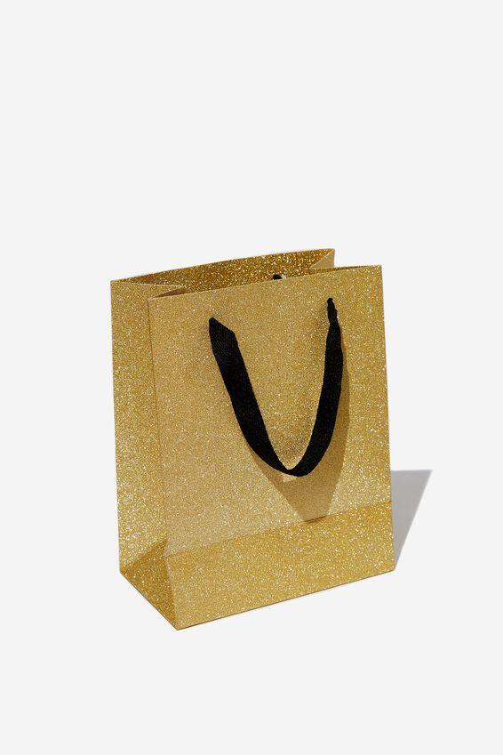 Small Stuff It Gift Bag, ROSE GOLD GLITTER