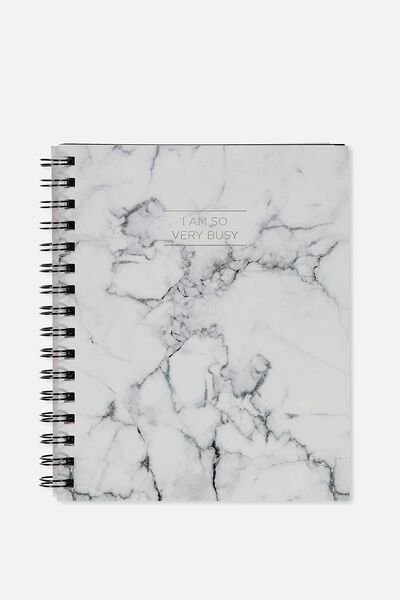 A5 Campus Notebook, MARBLE SO VERY BUSY