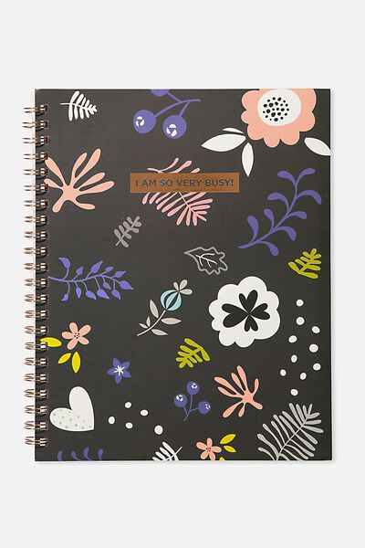 A4 Campus Notebook, PASTEL SKETCH FLOWER VERY BUSY